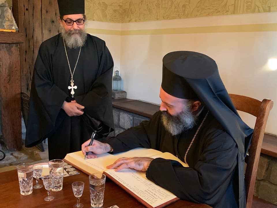 Archbishop of Australia visits the Holy Monastery of St