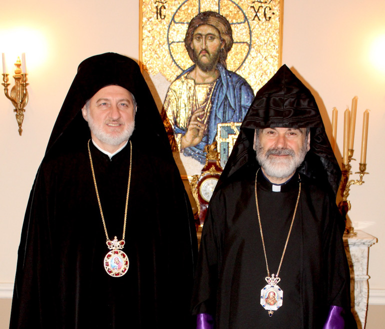 Archbishop of America met with the Prelate of the Eastern